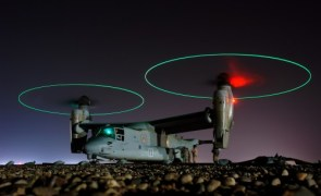Osprey Refueling at Night