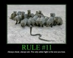 Rules of a firefight