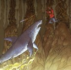 Man Vs Shark In Cave