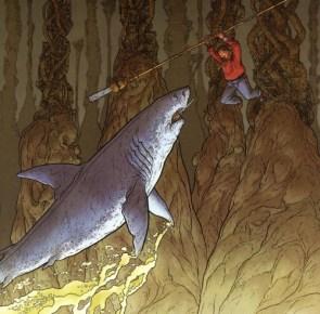 Man Vs Shark In Cave