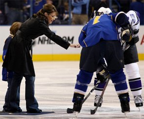 For the curious..Palin dropping the puck here in St. Louis
