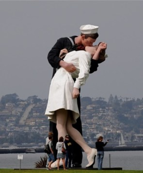 Gigantic People Kissing