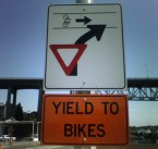 Yield To Bikes Doing Wheelies Sign