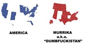 America -v- Murrica aka Dumbfuckistan