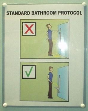 Standard Bathroom Protocol