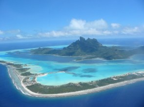 Aerial View of Bora Bora, Tahiti