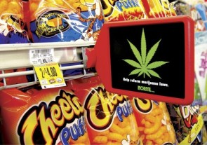 NORML advertisement in the munchie aisle