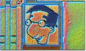 Milhouse Microchip Art