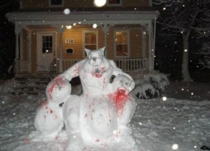 Evil snowdog