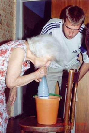 Granny Water Bong!