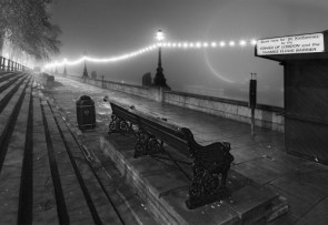 London at Night – B & W