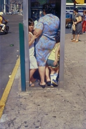 Crowded Telephone Booth
