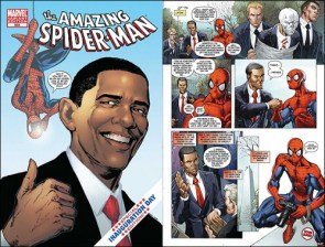 Obama meets Spider-Man