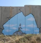 Israeli apartheid wall graffiti