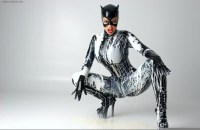 Catwoman covered in…milk?