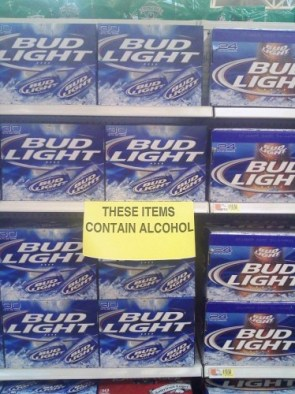 These items contain alcohol