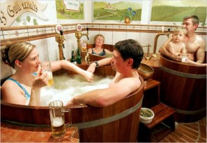 Czech beer spa and bath
