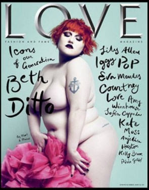 NSFW – Beth Ditto Nude Magazine Cover