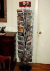 Comics spinner rack.