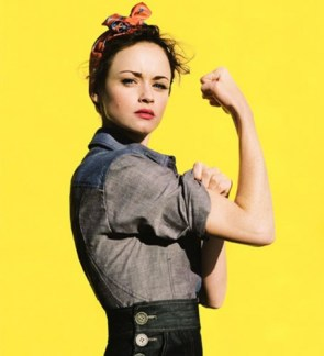 Alexis Bledel does Rosie The Riveter