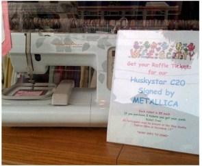Metallica Signs Sewing Machine