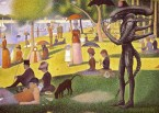 """Seurat\'s long-lost """"Sunday Afternoon on the Island of La Grande Jatte with Alien"""""""
