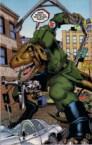 Nazi T-Rex with a machine gun