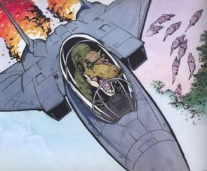 Tyrannosaurus in an f-15