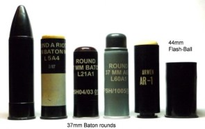 Plastic Baton Rounds (rubber bullets)
