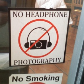 No Headphone Photography.
