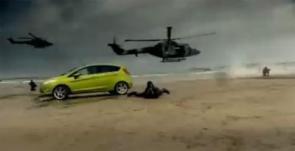 Ford fiesta beach Landing!