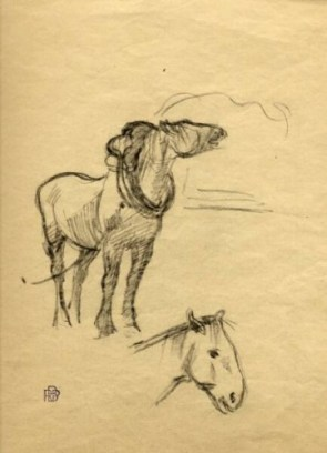 Studies of a Cart Horse, Brittany (by Robert P. Bevan)