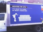 Funny moving truck advert