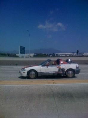 R2D2 in a car