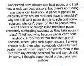 Rock-Paper-Scissors Anger Issues