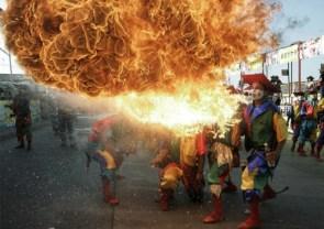 Firebreathing jesters