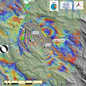 Satellite Radar image of L\'Aquila Earthquake