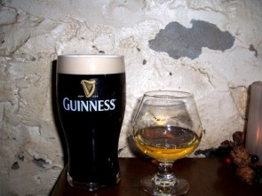 Guiness and single malt