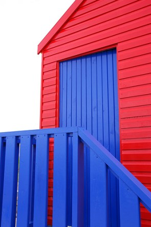 Red and Blue Door