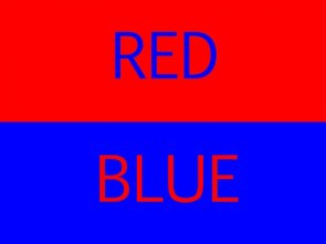 Red & Blue Text – Theme Day