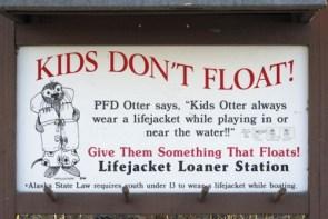 Kids don't float