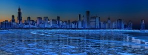 Dual widescreen wall papers of Chicago.