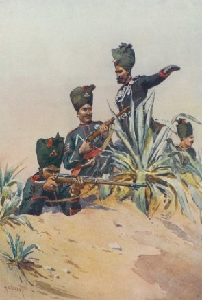 Indian soldiers in 1911