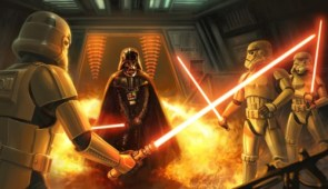 Darth Vader, and Storm Troopers with lightsabers?