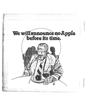 We will announce no Apple before its time.