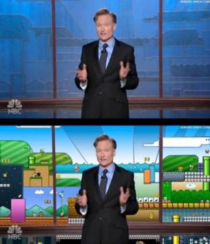 Conan's New Set is Super Mario Bros!