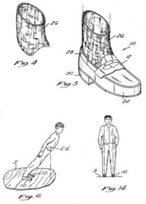 Patent filed by Michael Jackson to describe the method of leaning beyond the centre of gravity