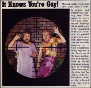 AIDS in HUSTLER Magazine. May 1982