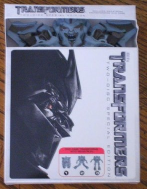 Transformers 1 DVD transforming case