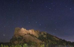 Mount Rushmore's Starry Night
